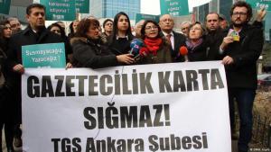 Demonstration für Pressefreiheit in Ankara, 2020; Foto: DW/H. Köylü