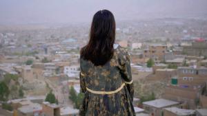 """Filmposter des Streaming-Festivals """"Female Voice of Afghanistan""""; Copyright: Zeitgenössische Oper Berlin"""