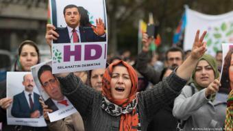 Solidaritätsdemonstration für inhaftierten HDP-Politiker Demirtas in Frankfurt am Main; Foto: dpa/picture-alliance