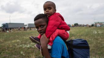 Flüchtlingskinder aus dem Sudan; Foto: Getty Images/AFP