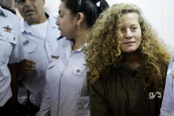 Die 16-jährige palästinensische Aktivistin Ahed Tamimi; Foto: AP