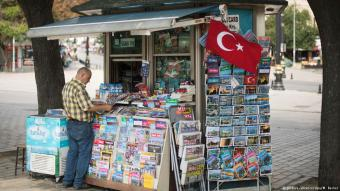 Zeitungskiosk in Istanbul; Foto: picture-alliance/dpa
