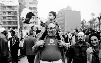 Pierre Sioufi während der Arabellion im Jahr 2011 in Kairo; Foto: Hossam Hamalawy