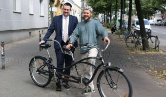 Rabbiner Elias Dray und Imam Ender Cetin ; Foto: meet2respect-Tandemtour