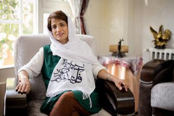 Die iranische Menschenrechtsaktivistin und Sacharow-Preisträgerin Nasrin Sotudeh; Foto: dpa