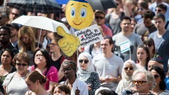 """Solidaritätskampagne """"Tag der Kippa"""" in Bonn, Juli 2018"""