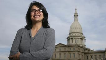 Rashida Tlaib, Tochter palästinensischer Immigranten, wird als erste Muslima in den Kongress einziehen; Foto: picture-alliance