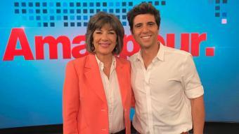 Jaafar Abdul Karim mit CNN-Moderatorin Christiane Amanpour