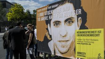 Der saudische Blogger und Dissident Raif Badawi; Foto: picture-alliance/dpa