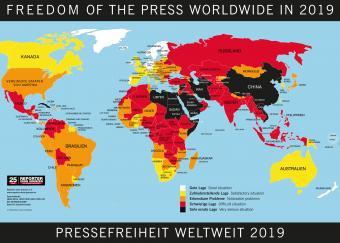 Rangliste der Pressefreiheit; Quelle: Reporter ohne Grenzen