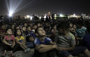 Irak Das Freiluftkino für den Frieden  Foto ARTE-Screenshott