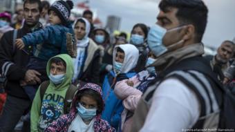 Ausbruch des Covid-19-Virus bei Flüchtlingen in Griechenland; Foto: picture-alliance/AP