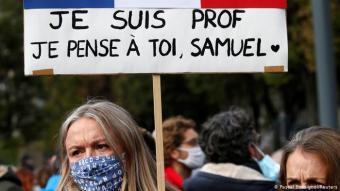 Solidaritätkundgebungen nach Mord an Lehrer bei Paris; Foto: Pascal Rossignol/Reuters