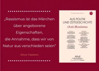 """Schwerpunktes (Anti-)Rassismus aus Politik und Zeitgeschichte"""" (APuZ 42-44/2020). (Foto: Aus Politik und Zeitgeschichte)"""