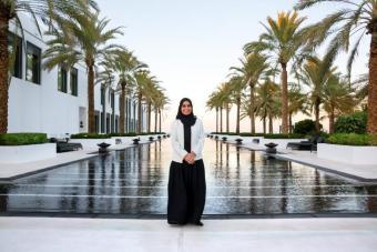 Frauen in Oman. Muneera Al Habsi. Foto Pascal Mannaerts