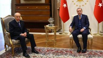 Recep Tayyip Erdogan und Devlet Bahceli. Foto: DHA