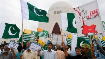 Proteste in Pakistan gegen Indiens Politik in Kaschmir. Foto: Getty Images/AFP/A. Hassan