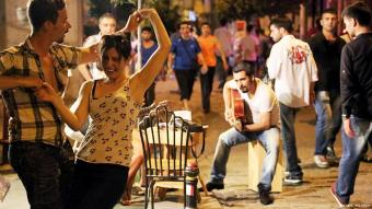 Straßenmusik in der Türkei. Foto: DW